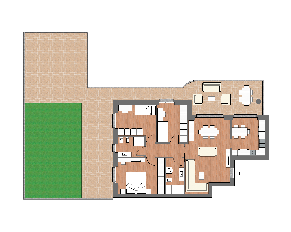 appartamento a4 miniatura palazzina a