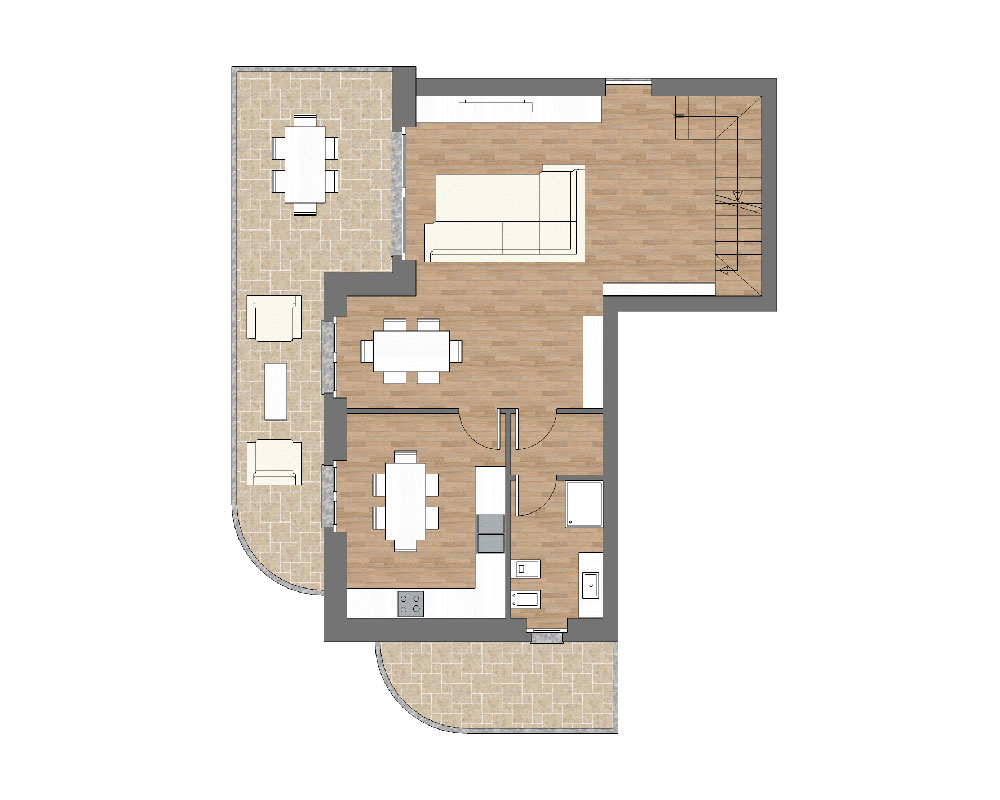 appartamento b9 miniatura palazzina b